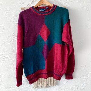 Vintage Grandpa Geometric Sweater